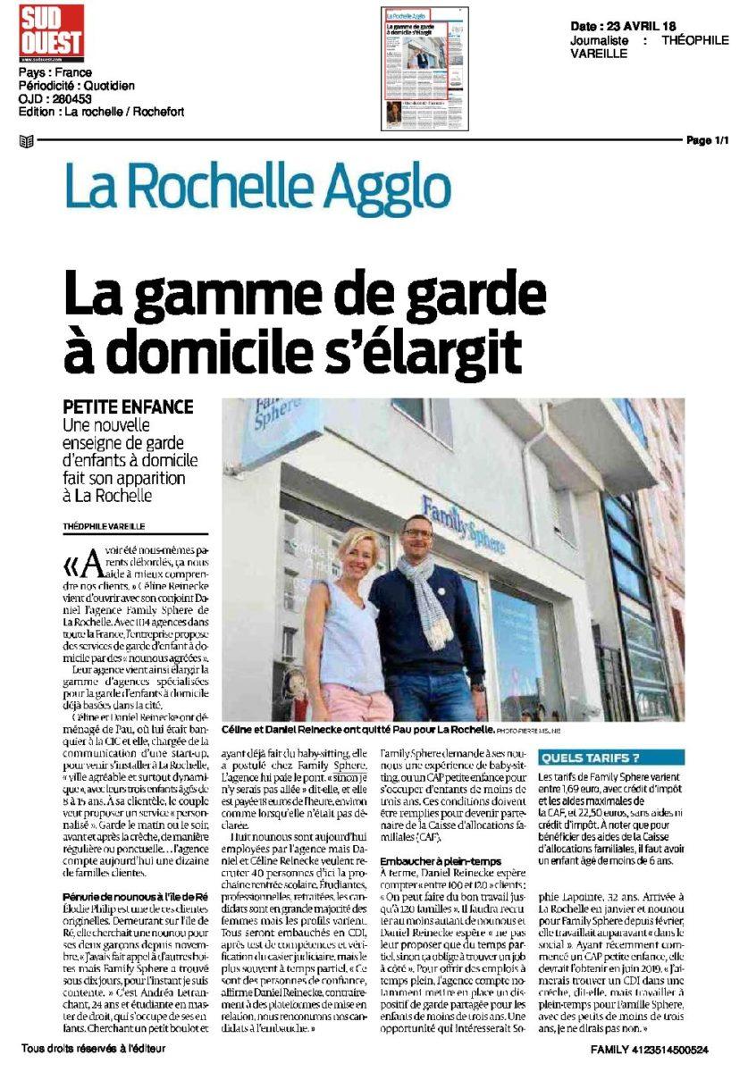 Céline Remeckevient d'ouvrir avec son conjoint Daniel l'agence Family Sphère de La […]
