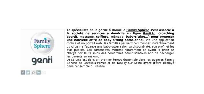 Sujet : Le spécialiste de la garde à domicile Family Sphere s […]