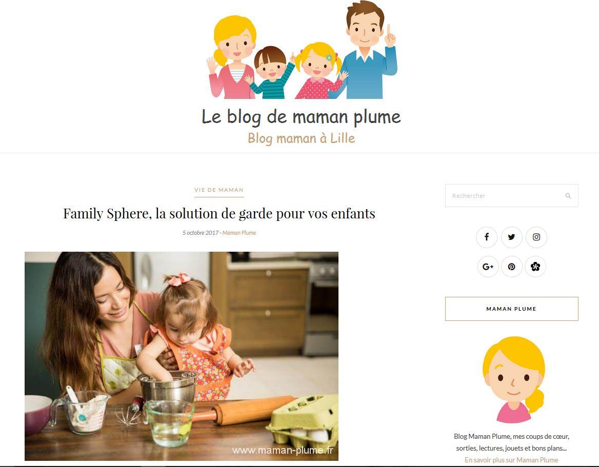 Sujet : Family Sphere, LA solution de garde pour vos enfants.