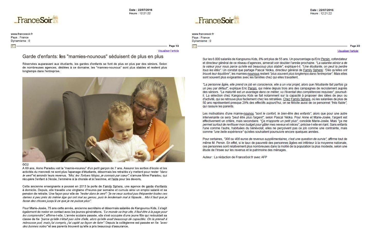 Garde d'enfants : les «mamies nounous» séduisent de plus en plus