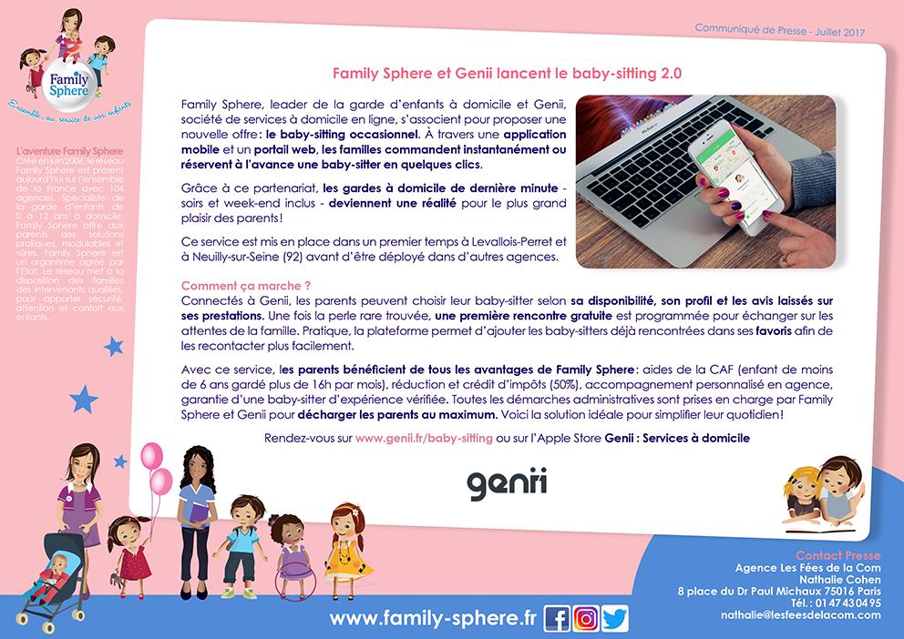 Family Sphere, leader de la garde d'enfants à domicile et Genii, société […]