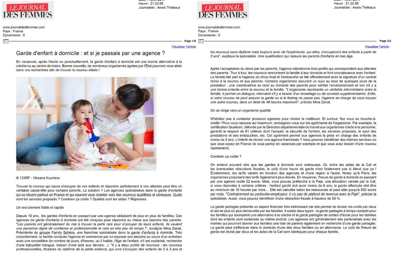 Sujet : Garde d'enfants à domicile : et si je passais par […]