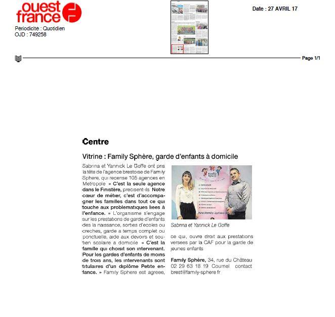 Sujet : une nouvelle agence Family Sphere a ouvert ses portes à […]