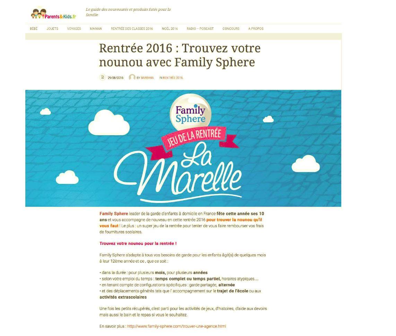 Rentrée 2016 : trouvez votre nounou avec Family Sphere