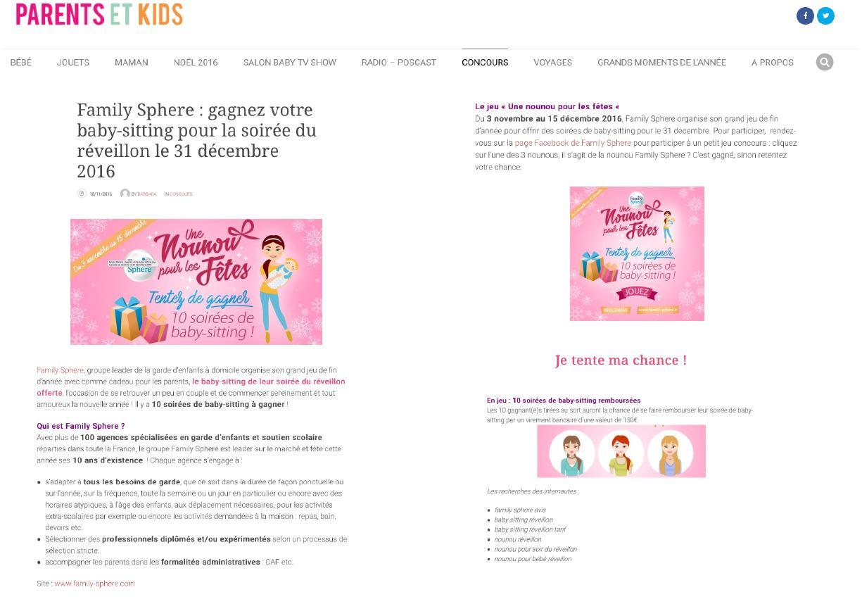 Family Sphere : gagnez votre baby-sitting pour la soirée du réveillon le […]