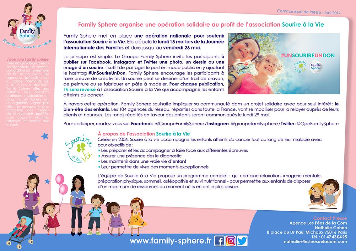 Family Sphere met en place une opération nationale pour soutenir l'association Sourire […]