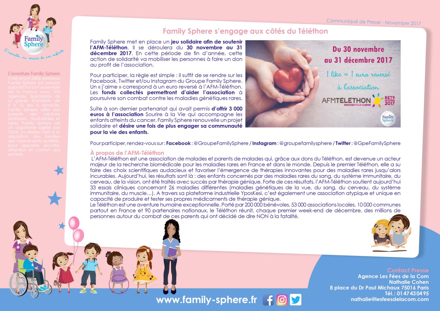 Family Sphere met en place un jeu solidaire afin de soutenir l'AFM-Téléthon. […]