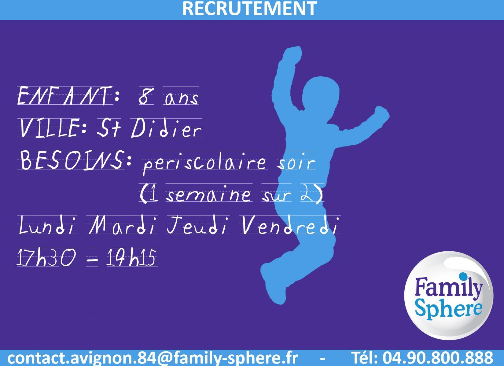 CDI Temps partiel St Didier Publié il y a 7 mois Family […]