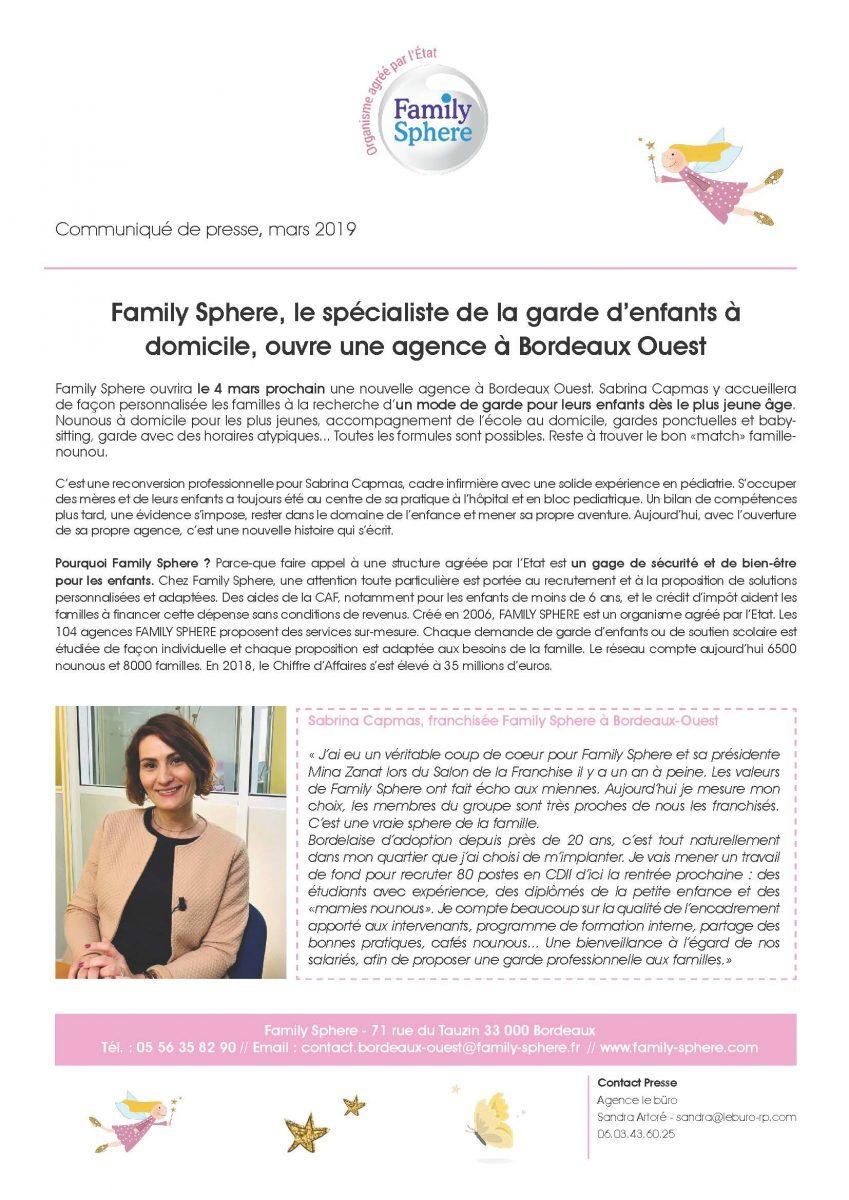 Family Sphere ouvre une nouvelle agence à Bordeaux Ouest - Family